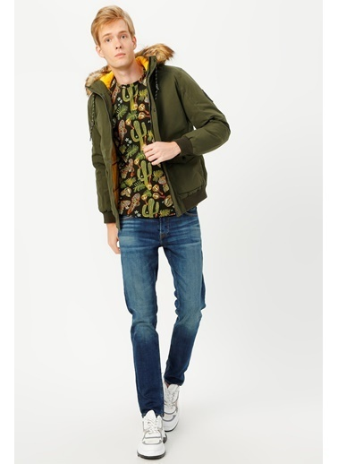 Jack & Jones JJSKY BOMBER JACKET 12174397Forest NXXL              Renkli